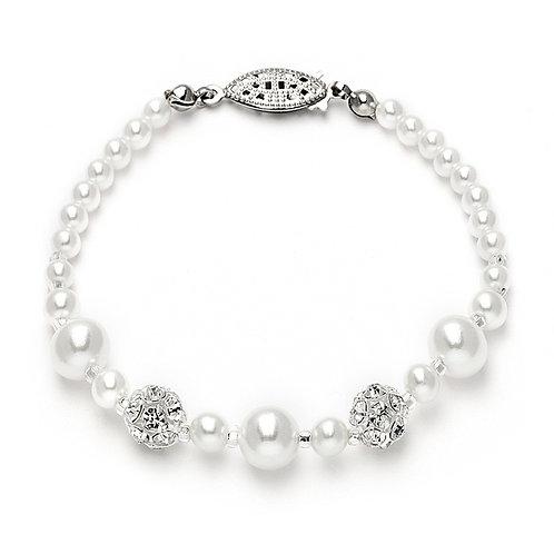 Pearl & Rhinestone Bracelet