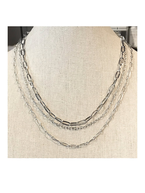 Oval Chain Layered Necklace