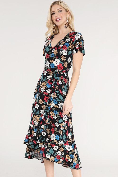 Floral V Dress