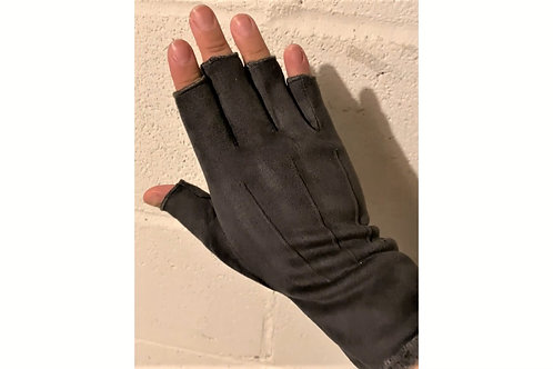 Faux Suede Half Finger Gloves