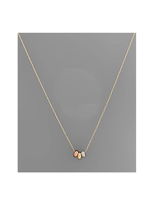 Multi Metal Ring Dainty Necklace