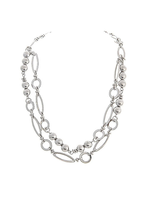 Ellipse Layered Necklace