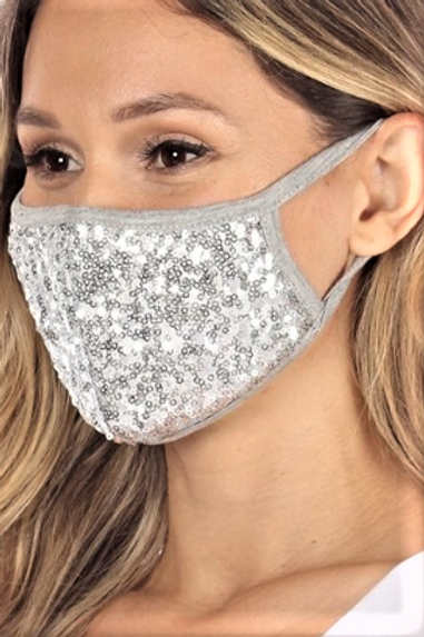 Double Layer Sequin Mask
