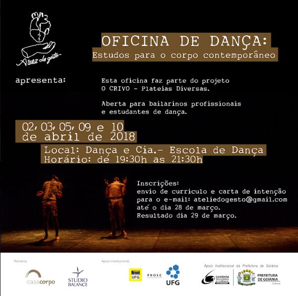 Oficina de Dança em Goiânia