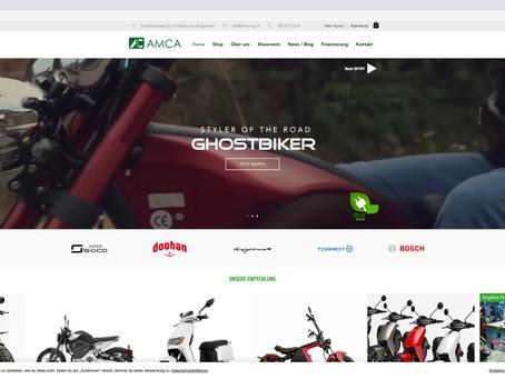 Neuer Webauftritt mit Shop für AMCA AG Jona SG