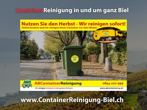 ContainerReinigung Biel - Wir reinigen & desinfizieren Ihren Container vor dem Winter