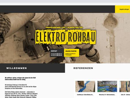 Neuer Webauftritt für Kehl Elektrorohbau Zürich