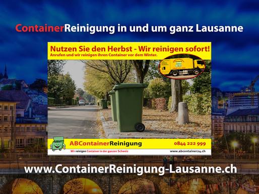 ContainerReinigung Lausanne - Wir reinigen Ihre Container vor dem Winter