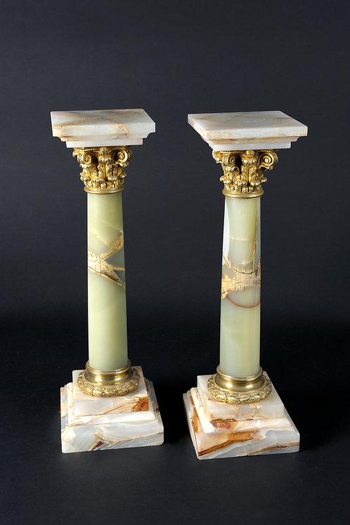 1 Paar Kleine Onyx-Säulen
