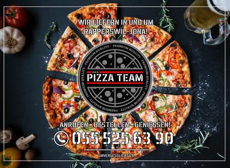 Neuer Flyer & Logo für DAS PIZZA TEAM RAPPERSWIL-JONA