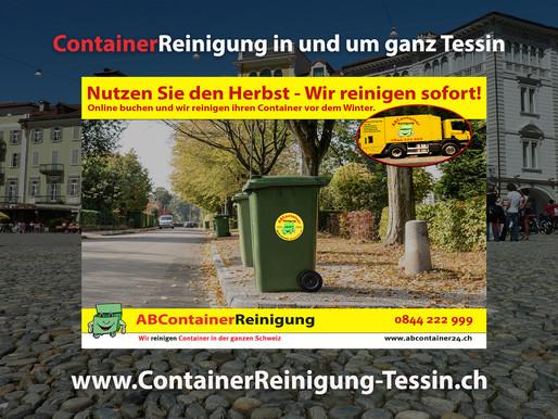 ContainerReinigung Tessin - Wir reinigen Ihren Container vor dem Winter - jetzt online Buchen