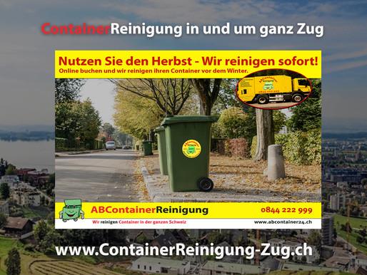 ContainerReinigung Zug - Wir reinigen Ihren Container vor dem Winter - jetzt online Buchen!