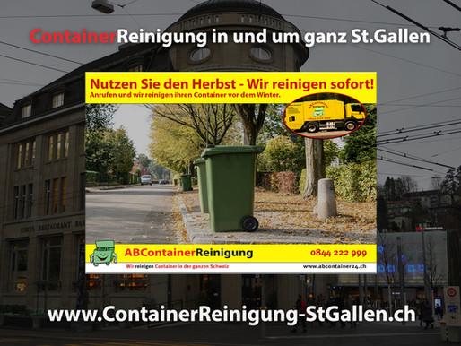 ContainerReinigung St.Gallen - Wir reinigen Ihre Container noch vor dem Winter