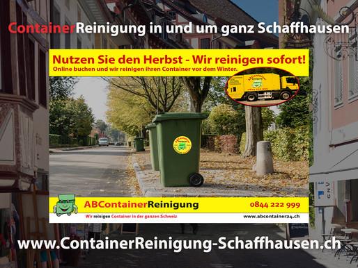 ContainerReinigung Schaffhausen - Wir reinigen & desinfizieren Ihren Container vor dem Winter