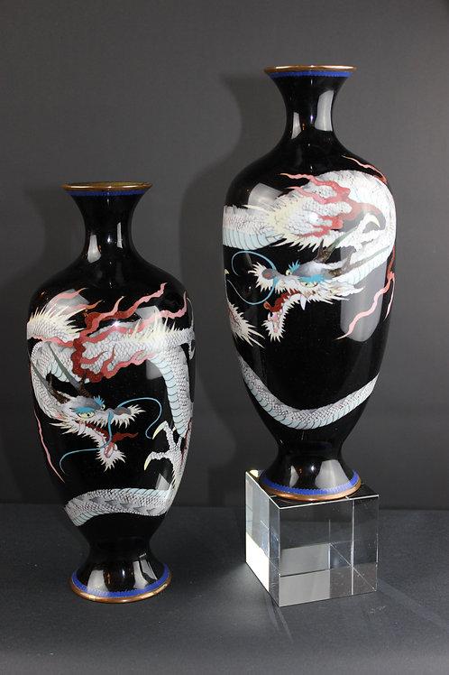 Cloisonne Vasen, Japan, 19.Jhr.
