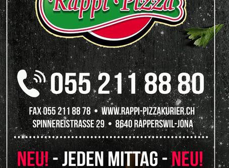 Neuer Flyer für RAPPI-PIZZA erstellt