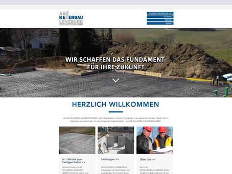 Neuer Webauftritt für AB Kellerbau
