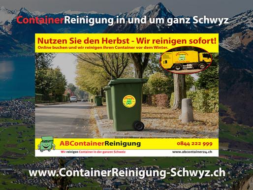 ContainerReinigung Schwyz - Wir reinigen Ihren Container vor dem Winter