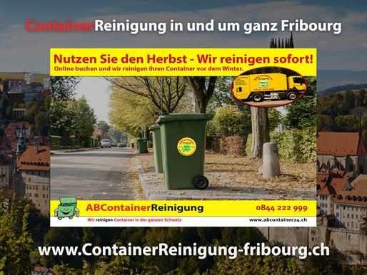 ContainerReinigung Fribourg - Wir reinigen Ihren Container vor dem Winter - jetzt online Buchen