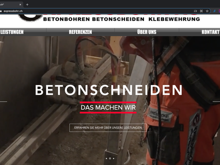 Neuer Webauftritt für Expressbohr AG Eschenbach SG