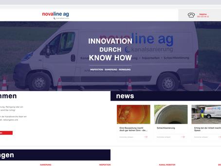 Neuer Webauftritt für Novaline-ag.ch