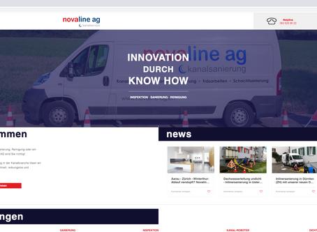 Neuer Webauftritt für Novaline AG - 5075 Hornussen