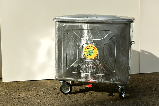Stahlcontainer 800 Liter mit Fusspedal