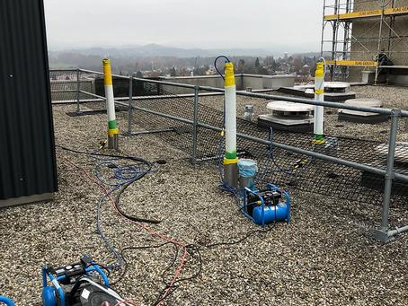 Sprayliner- und Inlinersanierung der Dachwasserleitungen in Bern