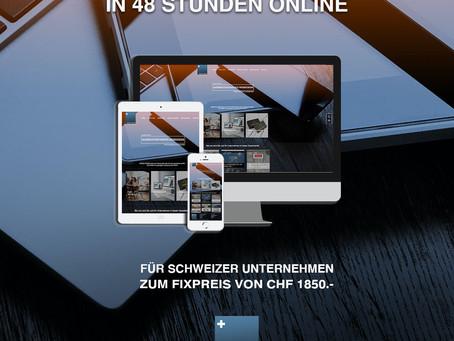 Für schweizer Unternehmen: IHRE NEUE WEBSEITE IN 48 STUNDEN ONLINE