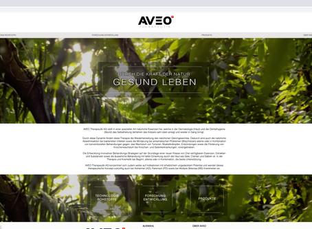 Neuer Webauftritt für AVEO THERAPEUTIK AG