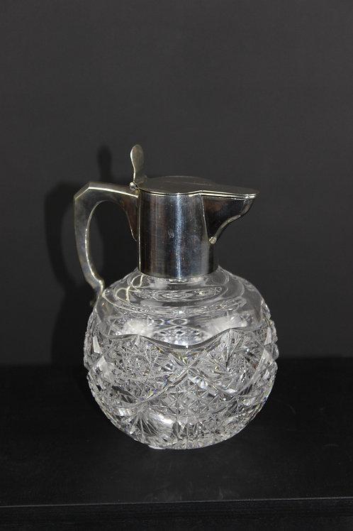 Kristallkaraffe mit Silbermontierung,um 1900