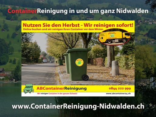 ContainerReinigung Nidwalden - Wir reinigen Ihren Container vor dem Winter - jetzt online Buchen unt