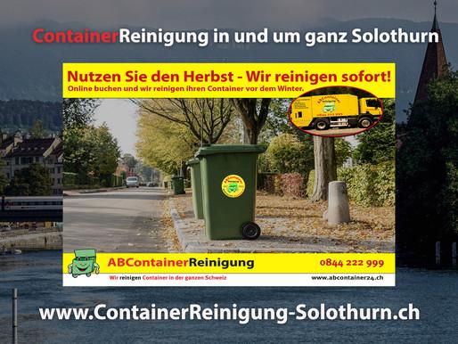 ContainerReinigung Solothurn - Wir reinigen Ihren Container vor dem Winter - jetzt online Buchen