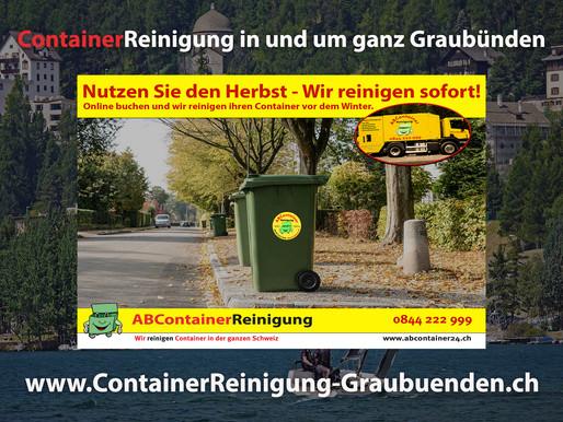 ContainerReinigung Graubünden - Wir reinigen & desinfizieren Ihren Container vor dem Winter