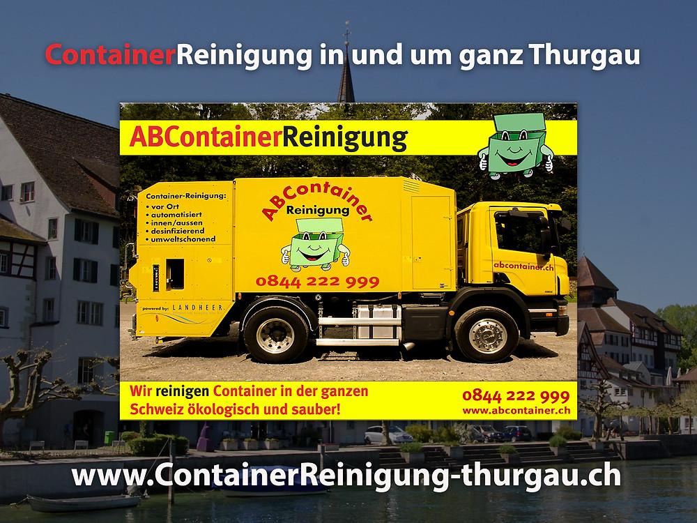 Ihre Container stinken nach der Leerung noch bis zum Himmel und sind eine bevorzugte Wohnstätte für Ungeziefer, Bakterien und Schimmelpilze jeglicher Art. abcontainer.ch bietet Ihnen die komfortable Lösung: Professionelle, schnelle und günstige Reinigungen Ihrer Mülltonnen! Unsere Servicefahrzeuge reinigen Ihre Container auf Wunsch am Tag der Leerung. Die Reinigung erfolgt durch mit neuster Technologie ausgestattete Fahrzeuge. Containerreinigung-Thurgau.ch- www.abcontainer.ch - 0844 222 999