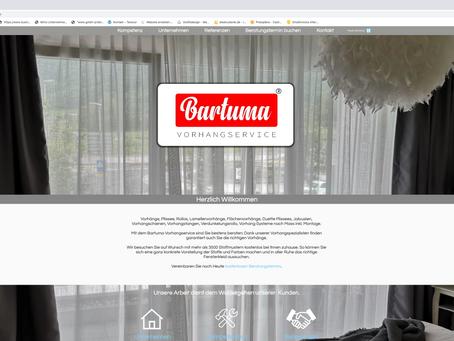 Neuer Webauftritt für Bartuma Vorhangservice