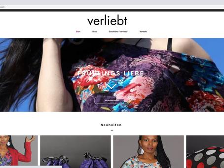 """Neuer Webauftritt mit Shop für ModeLabel """"verliebt"""" Überlingen"""