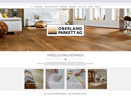 Neuer Webauftritt für OBERLAND PARKETT HINWIL