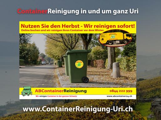 ContainerReinigung Uri - Wir reinigen Ihren Container vor dem Winter - jetzt online Buchen unter