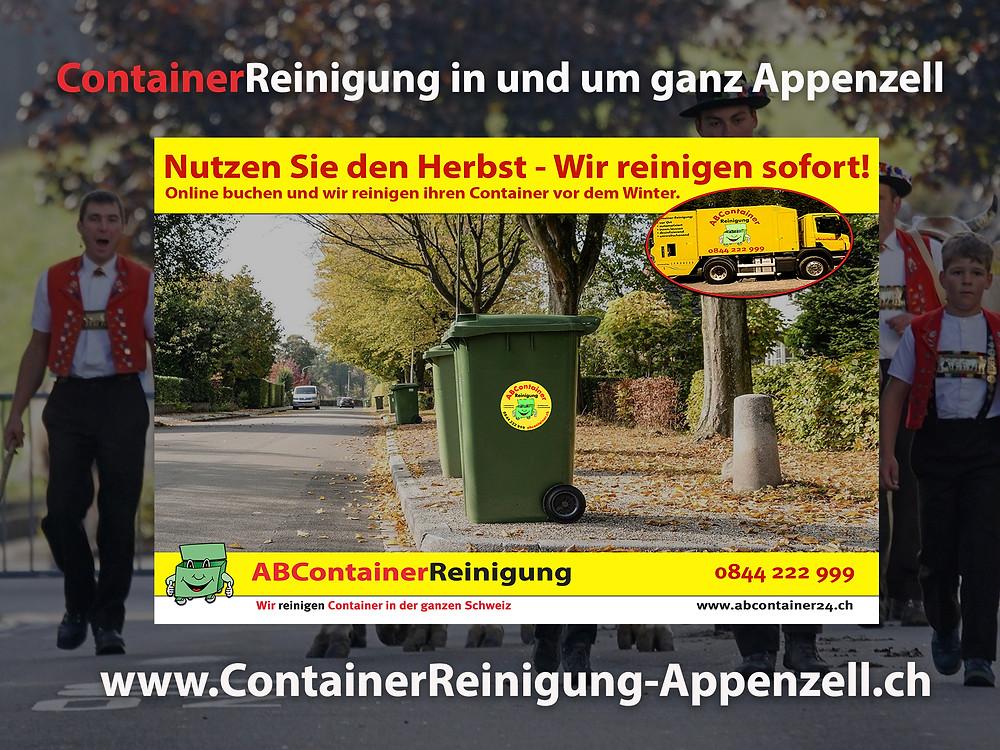 ContainerReinigung Appenzell- Wir reinigen Ihren Container vor dem Winter - Jetzt online buchen !