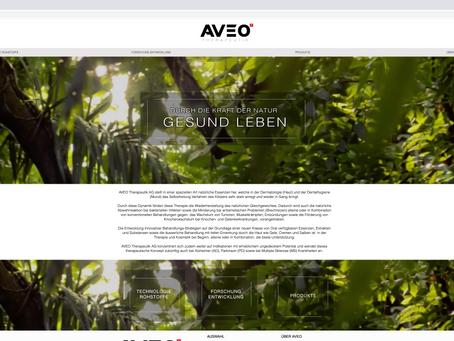 Neuer Webauftritt für AVEO SWISS