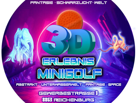 Aufkleber für 3d Erlebnis Mini Golf Reichenburg