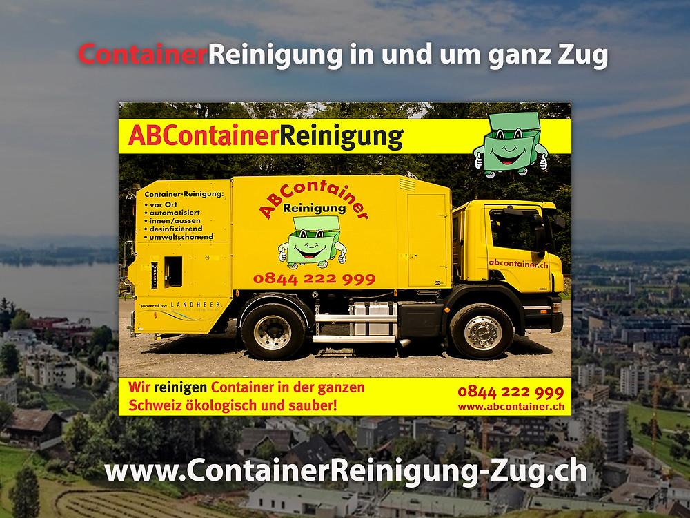 Ihre Container stinken nach der Leerung noch bis zum Himmel und sind eine bevorzugte Wohnstätte für Ungeziefer, Bakterien und Schimmelpilze jeglicher Art.  abcontainer.ch bietet Ihnen die komfortable Lösung:  Professionelle, schnelle und günstige Reinigungen Ihrer Mülltonnen!  Unsere Servicefahrzeuge reinigen Ihre Container auf Wunsch am Tag der Leerung.  Die Reinigung erfolgt durch mit neuster Technologie ausgestattete Fahrzeuge.  Containerreinigung-Zug.ch - www.abcontainer.ch - 0844 222 999