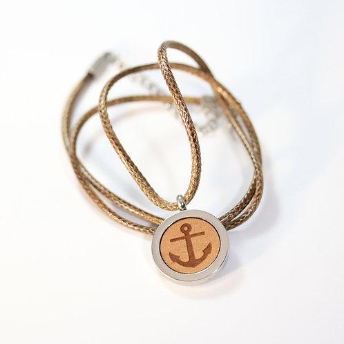 Anker Halskette mit Birnenholz