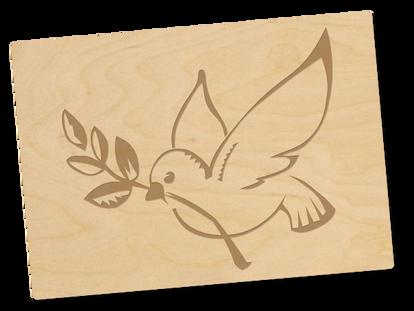 Holzpostkarte «taube»