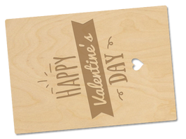Holzpostkarte «valentinstag»