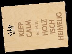 Holzpostkarte «keep calm»