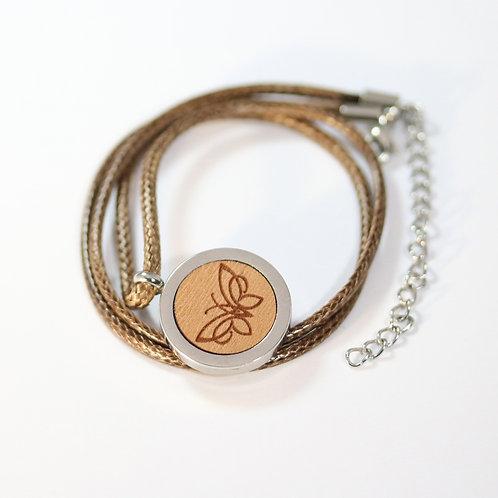 Butterfly Halskette mit Birnenholz