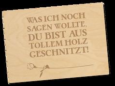 Holzpostkarte «geschnitzt»
