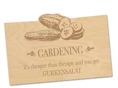 Holzpostkate «Gurkensalat»